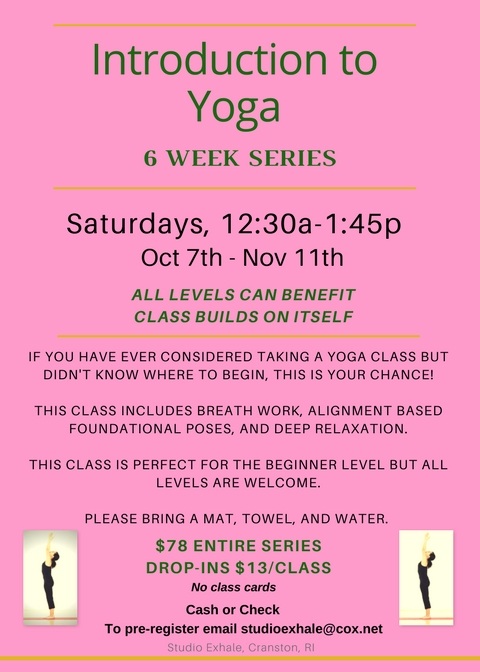 Intro to Yoga Series Fall 2017