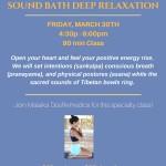 Yoga Nidra & Sound Bath 033018