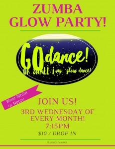 Zumba Glow Party Flyer